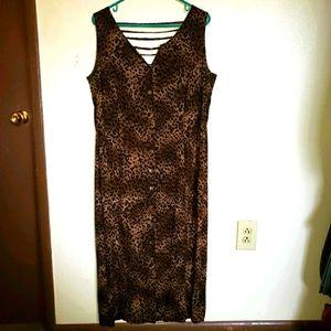 D.G.I Button Up Cheetah Print Dress